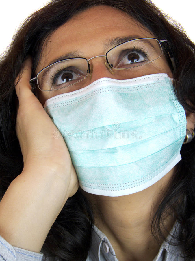Download Woman with flu mask stock image. Image of infectious - 11318753