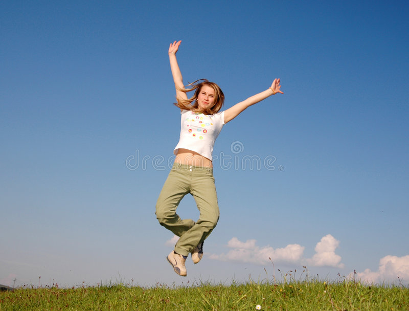 Woman fly stock photography