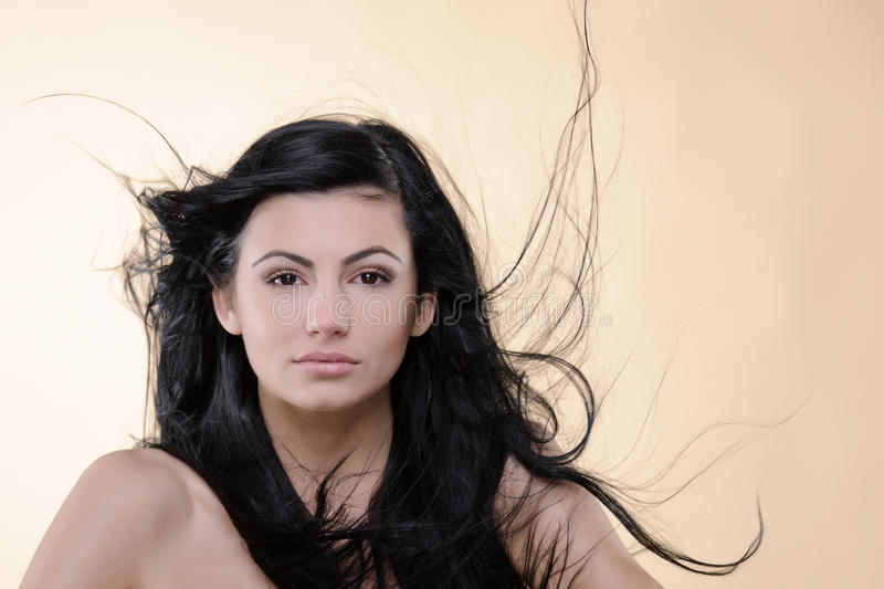 Download Woman flying hair stock photo. Image of sensuality, purity - 22327240