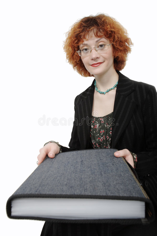 Download Woman with folder stock image. Image of jewelry, give - 1623241