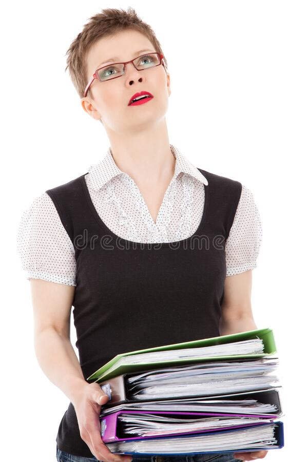 Woman With Folders Free Public Domain Cc0 Image