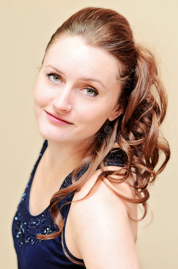 Woman with formal hairstyle royalty free stock photo