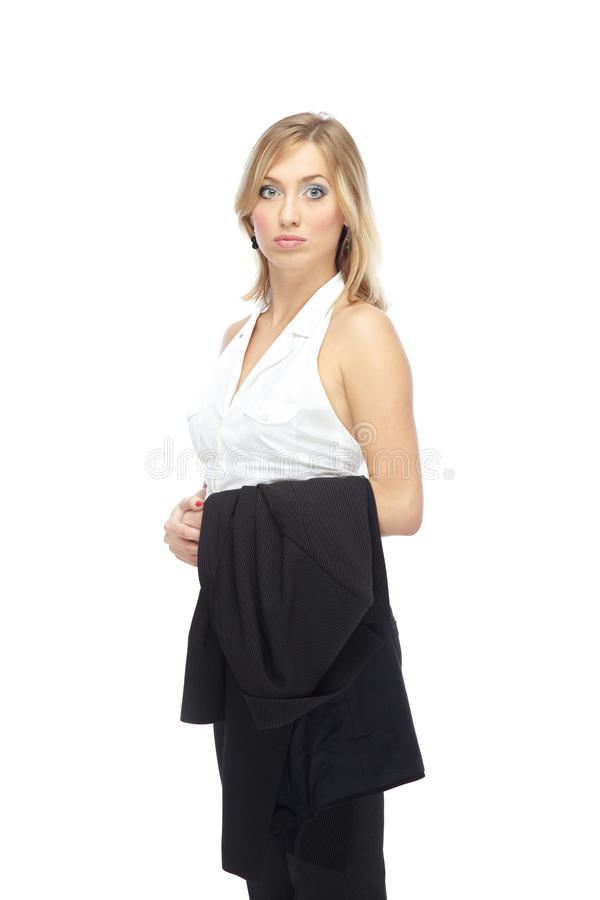 Woman in formal wear royalty free stock photos