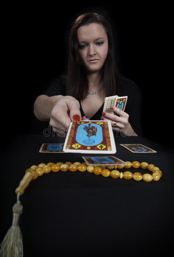 The woman fortuneteller royalty free stock images