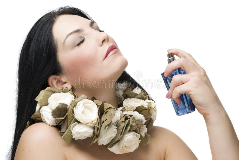 Woman fragrance stock images