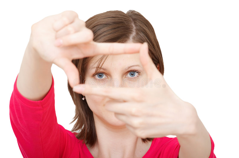 Download Woman with framing hands stock image. Image of composition - 5347027