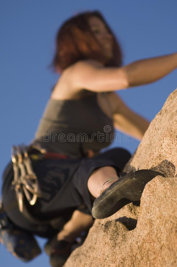 Download Woman Free Climbing, (close-up), (low Angle View) Stock Photo - Image: 13585256