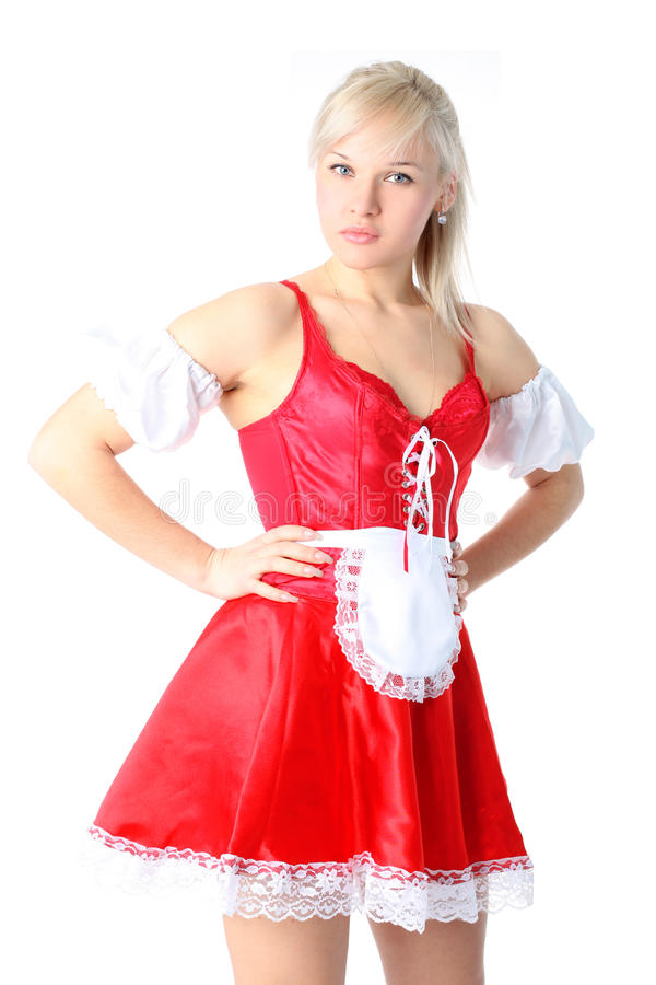 Download Woman In French Maid Outfit Stock Photo - Image: 18240726