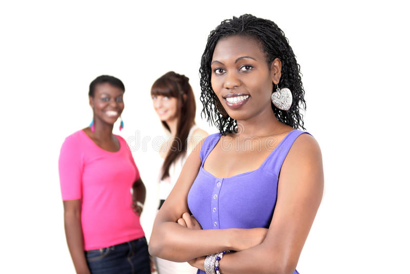 Woman With Friends Royalty Free Stock Photo