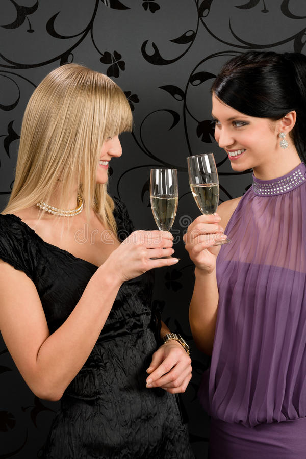 Download Woman Friends Party Dress Toast Champagne Glass Stock Image - Image: 23573821
