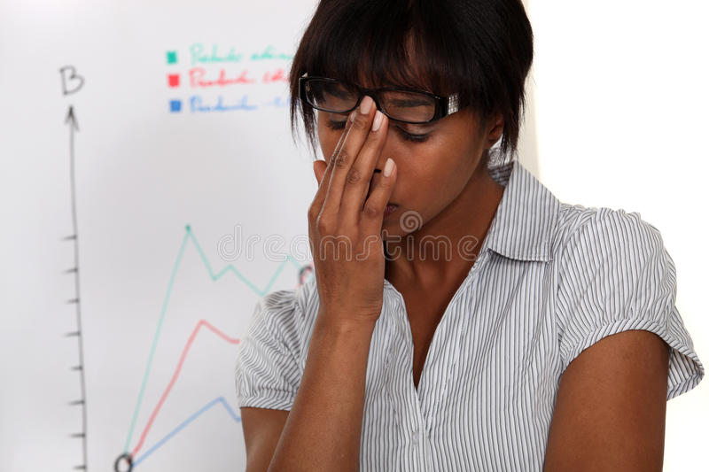 Woman In Front Of Chart Stock Photos