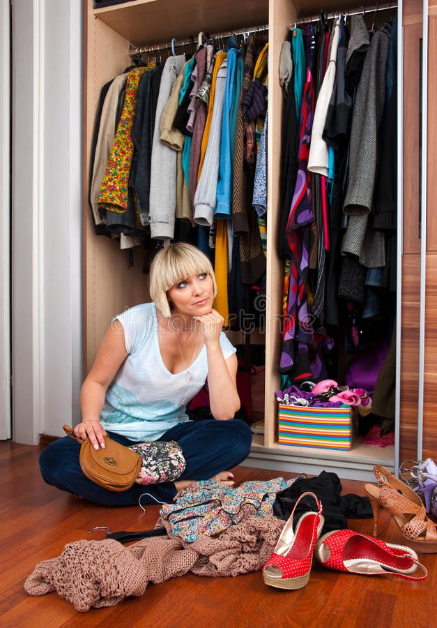 Download Woman In Front Of Full Closet Stock Images - Image: 19369804