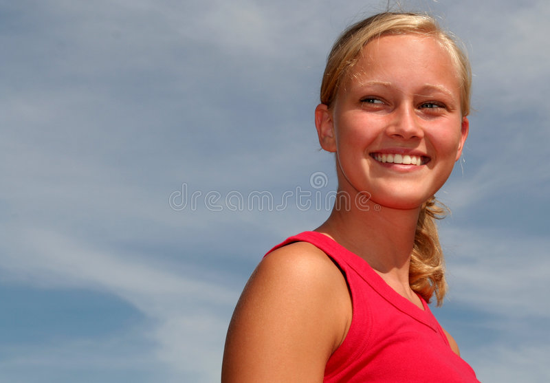 Download Woman In Front Of The Sky Stock Image - Image: 1029991