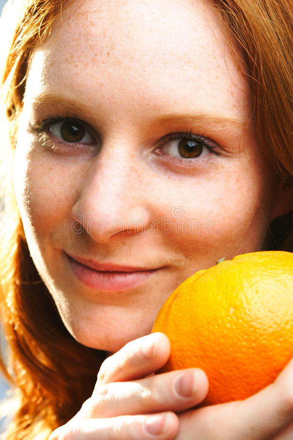Download A Woman With Fruit Royalty Free Stock Photo - Image: 5010975