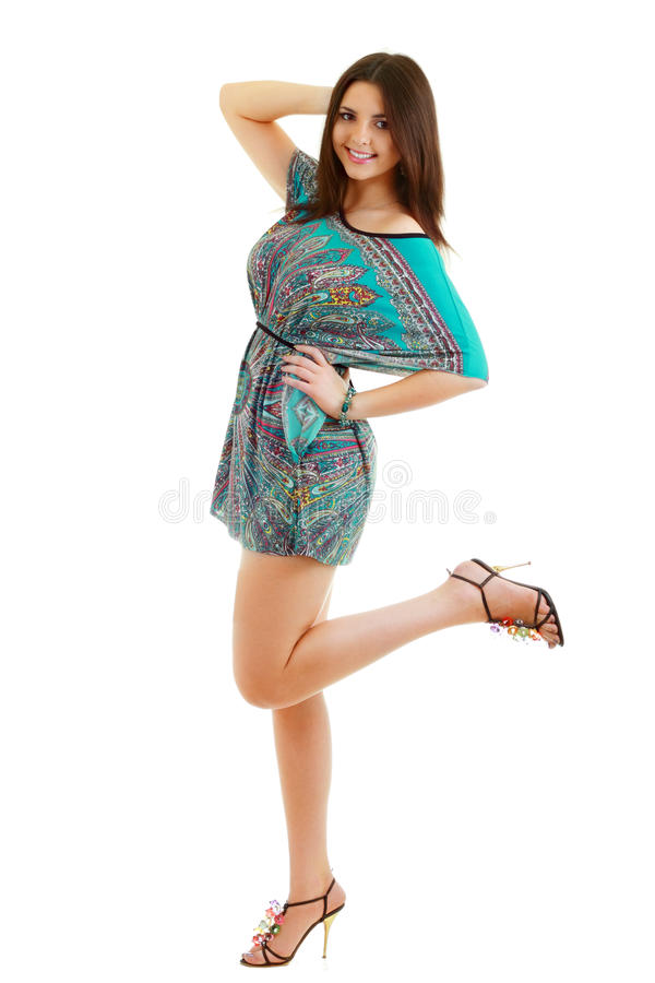 Download Woman in funky dress stock image. Image of fashionable - 25611353