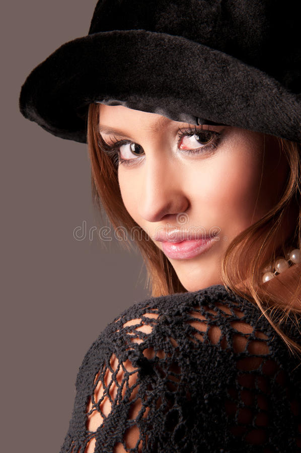 Download Woman In A Fur Hat Stock Photography - Image: 20560902