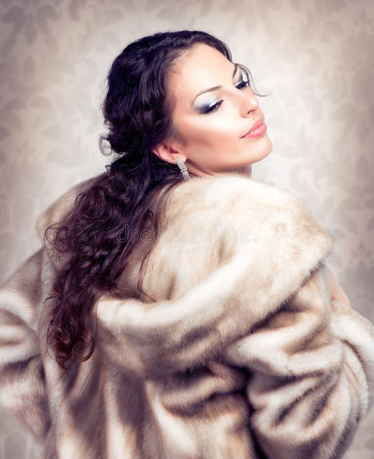 Download Woman in Fur Mink Coat stock image. Image of closeup - 27405015