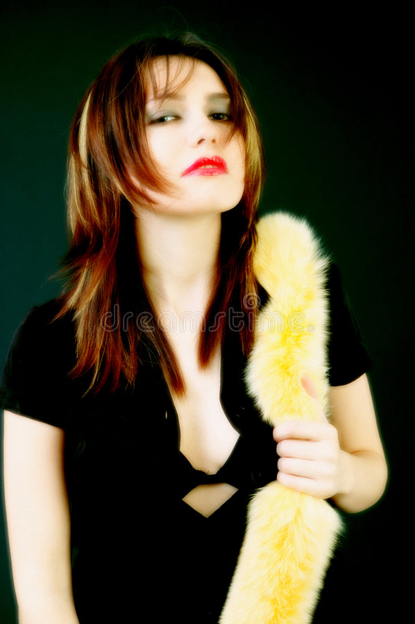 Download Woman With Furry Boa Stock Photos - Image: 1886053