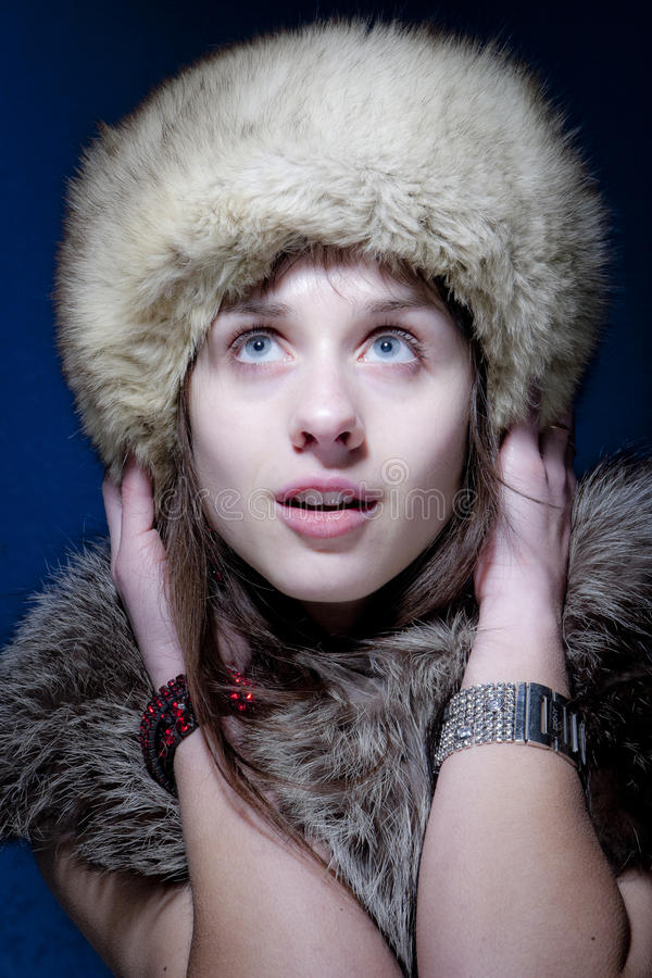 Download Woman in Furs stock image. Image of model, girl, beauty - 12653859