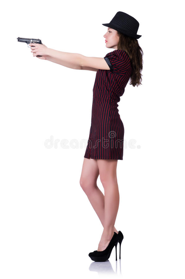 Download Woman Gangster With Handgun Stock Photo - Image: 30479902