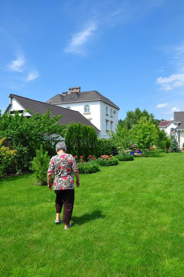 Download Woman on garden stock image. Image of landscaping, country - 24232795