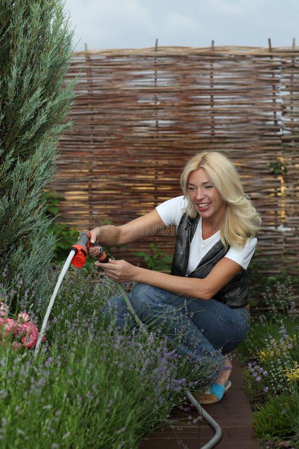 The Woman Gardener Stock Photography