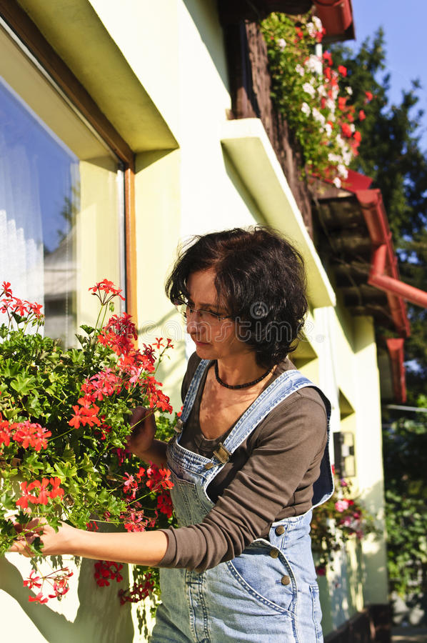Download Woman gardening stock photo. Image of attractive, happy - 16089224