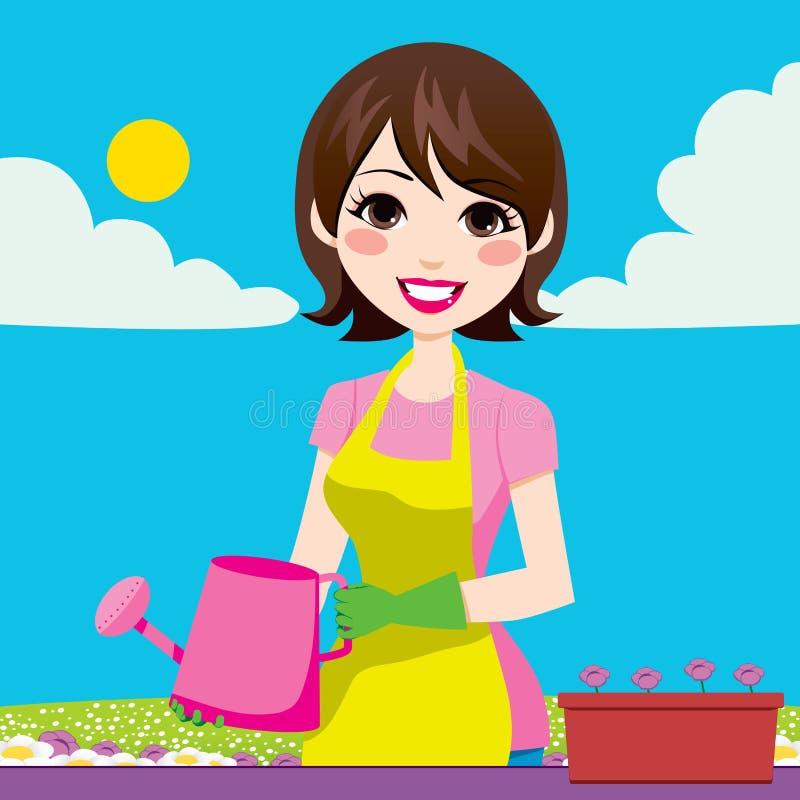 Download Woman Gardening stock vector. Image of female, gardening - 26174046