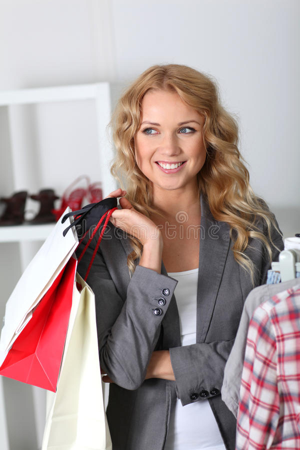 Download Woman in garment store stock photo. Image of consumer - 22442896