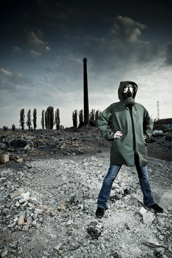 Download Woman in gas mask stock image. Image of atomic, desolated - 19321013