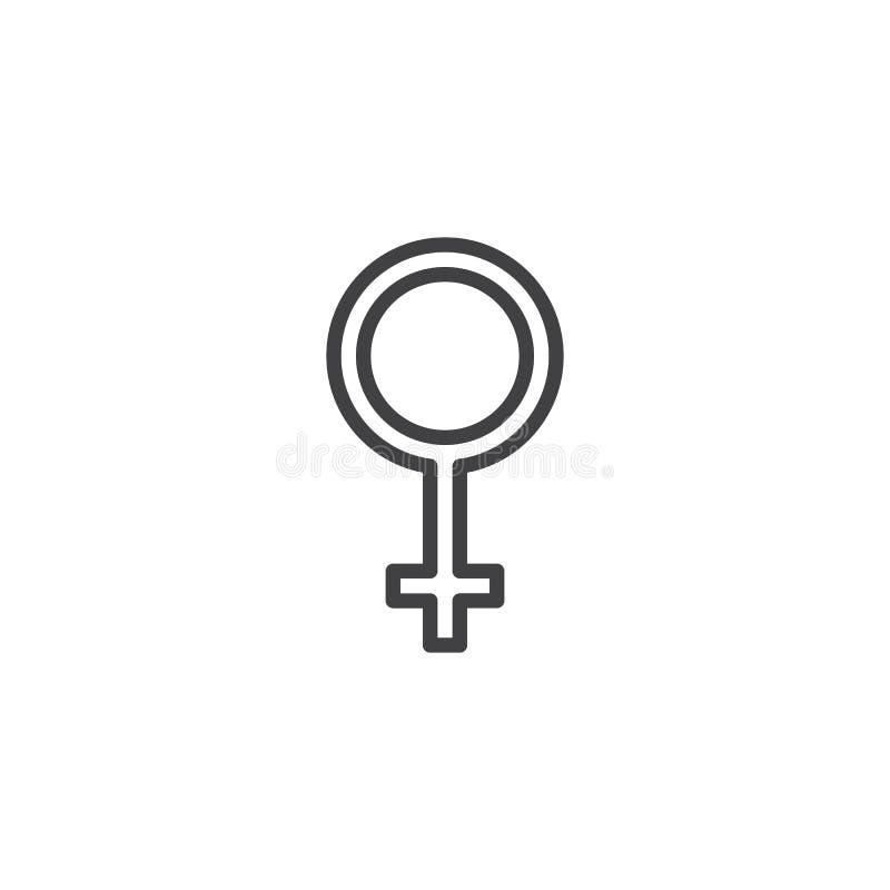 Woman gender sex outline icon stock illustration