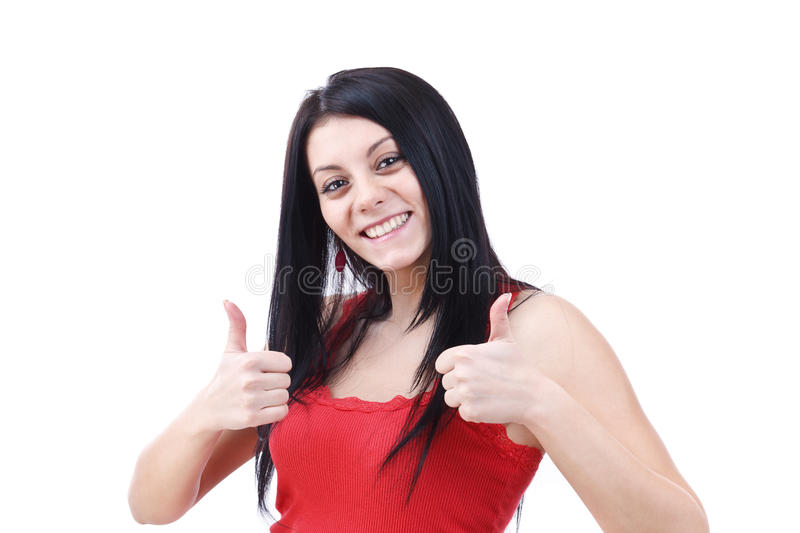Download Woman gesturing a yes sign stock image. Image of businesswoman - 22666829