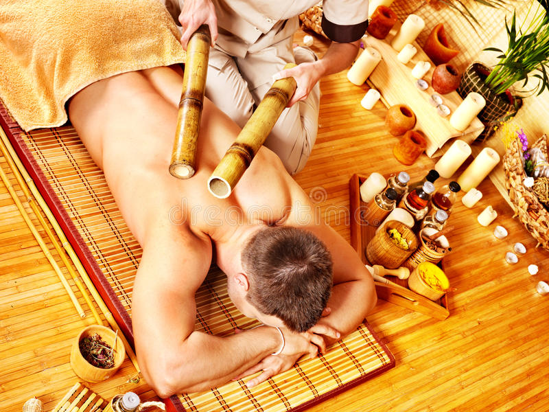 Download Woman Getting Bamboo Massage. Stock Image - Image: 27677783
