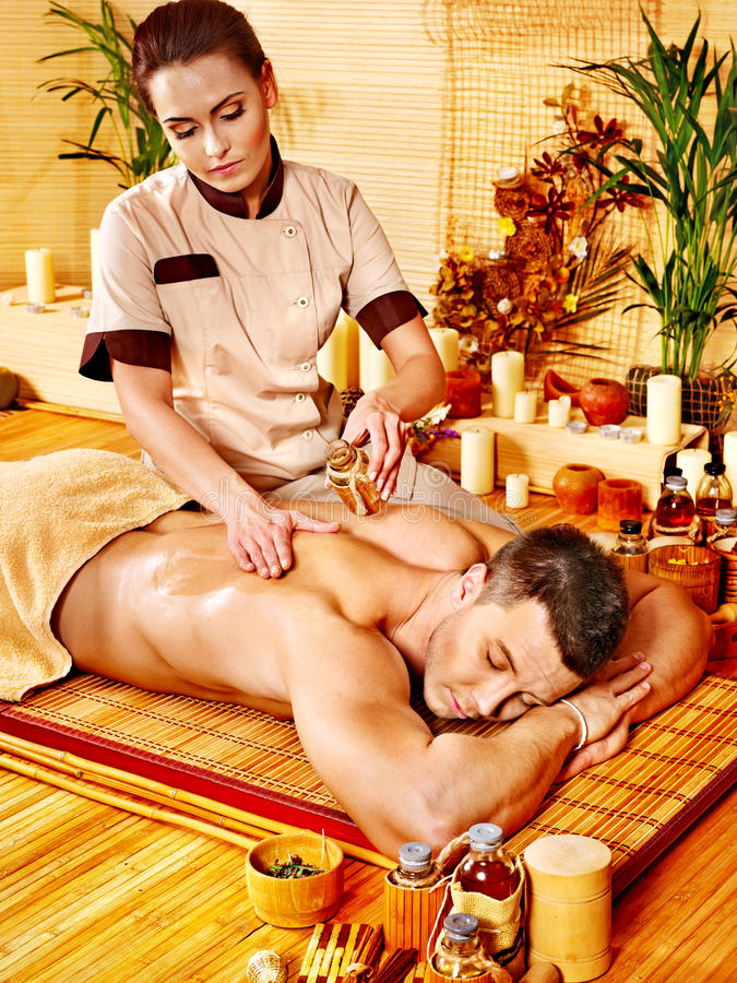 Download Woman Getting Bamboo Massage. Stock Images - Image: 27677784