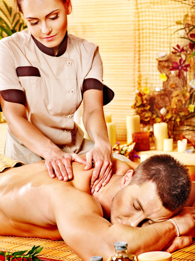 Download Woman Getting Bamboo Massage. Stock Image - Image of hotel, medical: 28696465