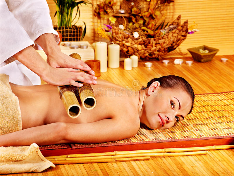 Download Woman Getting Bamboo Massage. Stock Photography - Image: 38714402