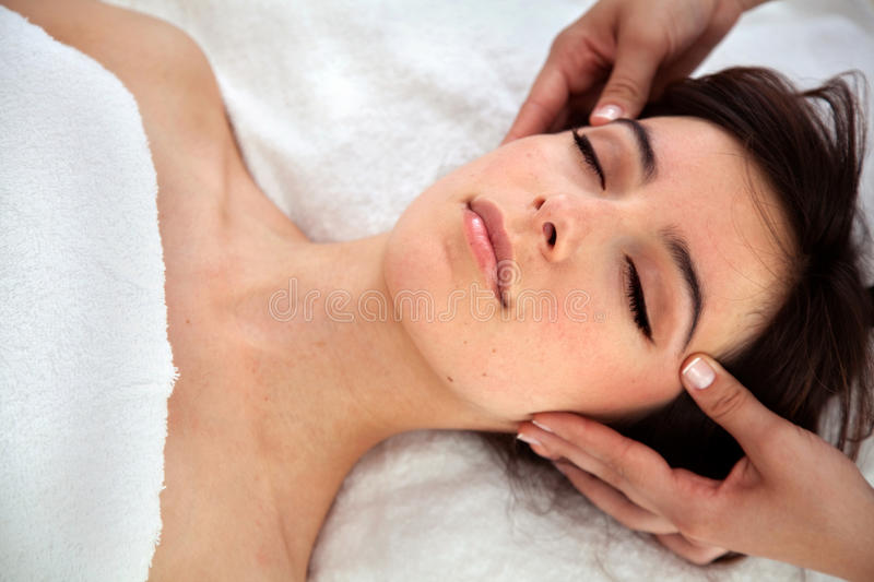 Download Woman Getting A Facial Treatment Stock Image - Image: 10939309