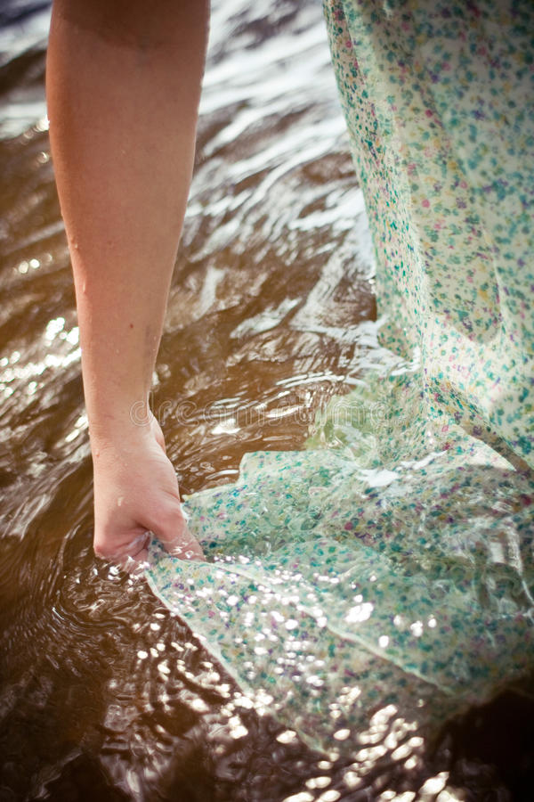 Download Woman Getting Her Dress Wet Royalty Free Stock Image - Image: 13128466