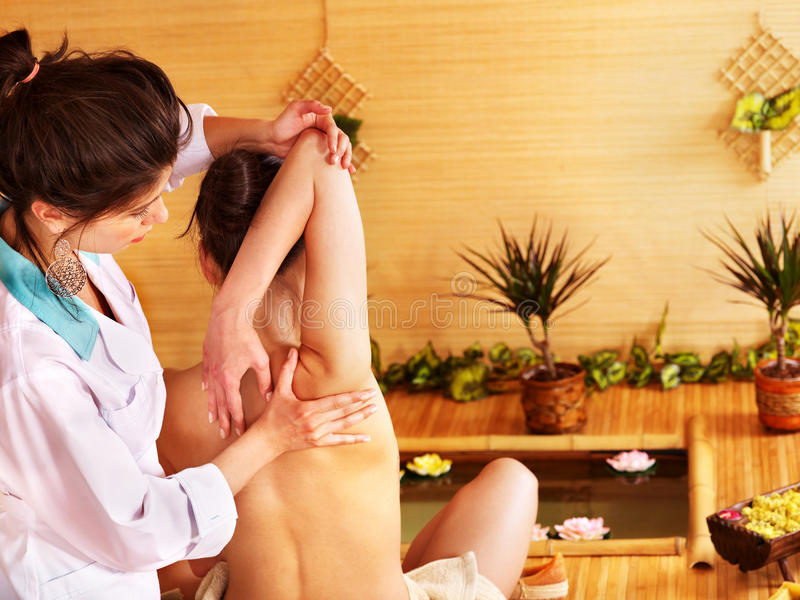 Download Woman Getting Massage. Royalty Free Stock Photos - Image: 21842178