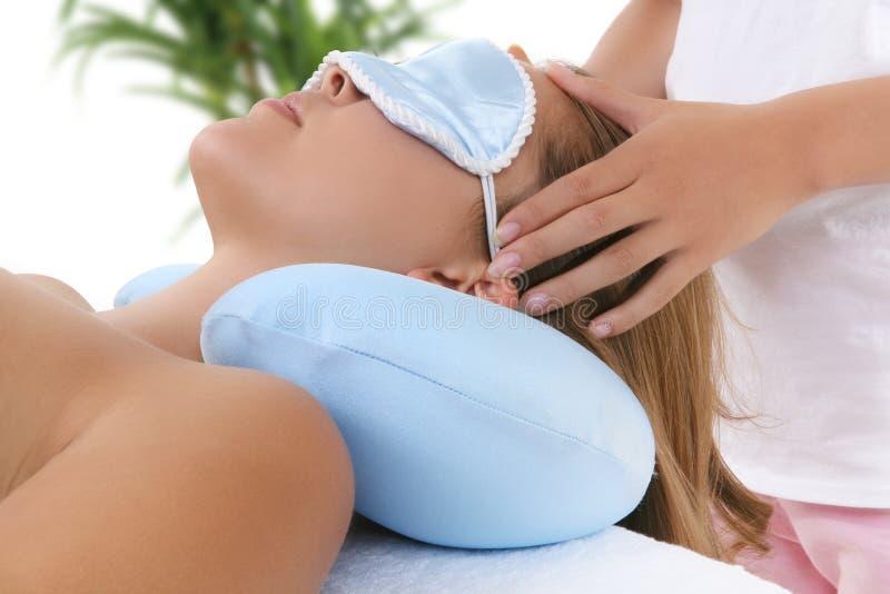 Woman Getting Massage Stock Photography