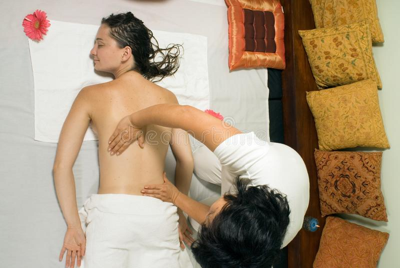 Woman Getting a Massage - Horizontal stock photos