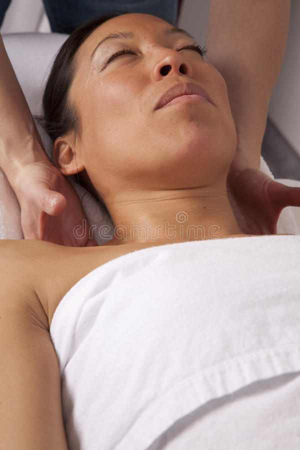 Download Woman Getting Massage On Neck Stock Image - Image: 12942851