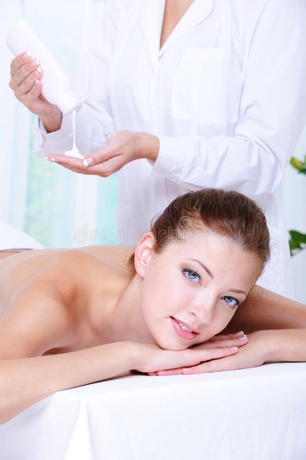 Download Woman Getting Massage And Relaxation Stock Image - Image: 10282073