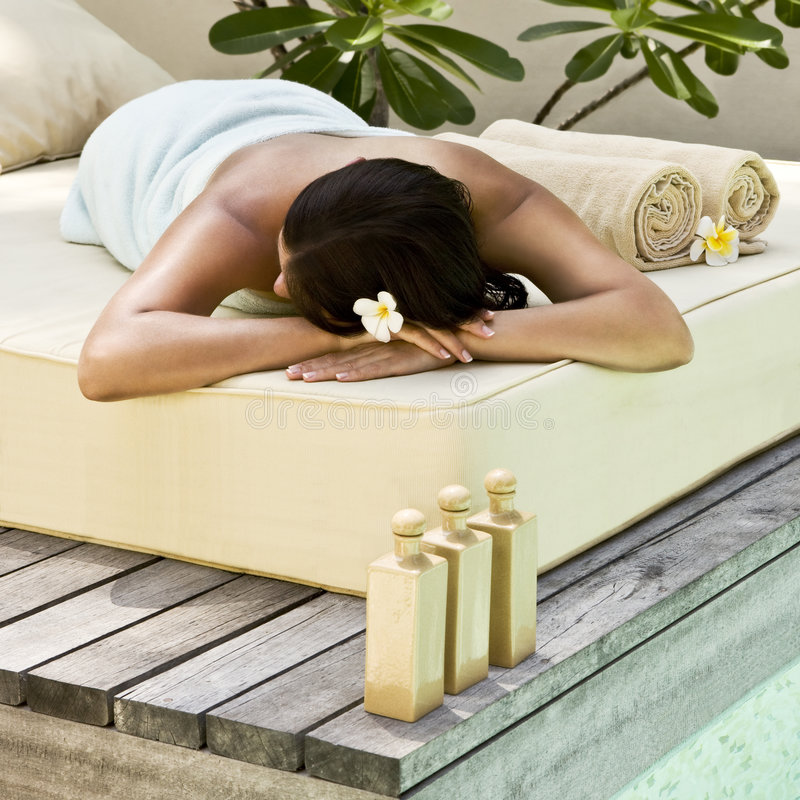 Woman getting spa treatment royalty free stock photos