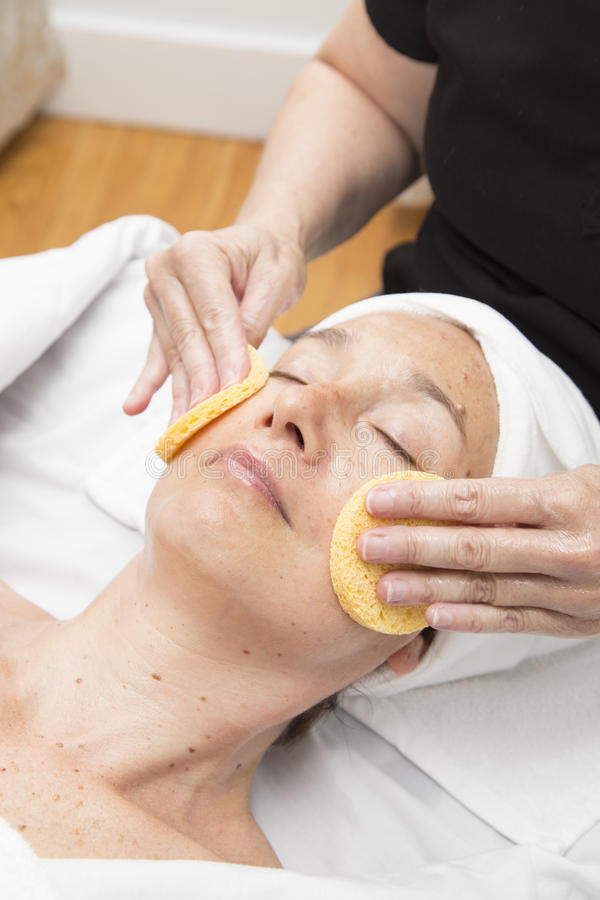 Woman getting a spa treatment royalty free stock photography