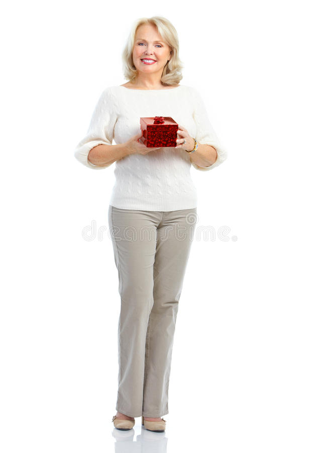 Download Woman with gift stock image. Image of fashion, lady, purchaser - 18148435