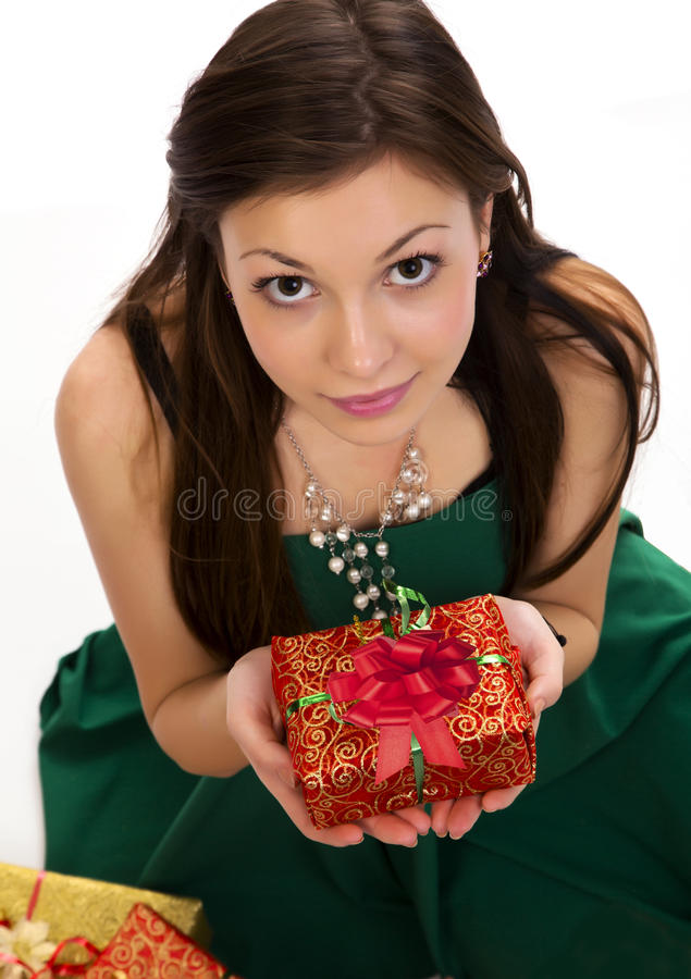 Download Woman and gift stock image. Image of happy, caucasian - 28208797
