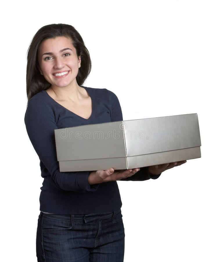 Download Woman With Gift Box Stock Images - Image: 7903724
