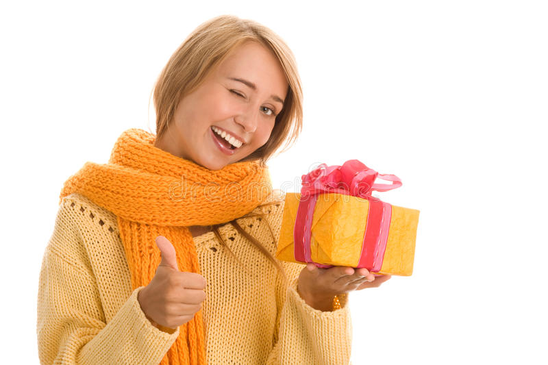 Download Woman with gifts stock photo. Image of background, christmas - 16794236
