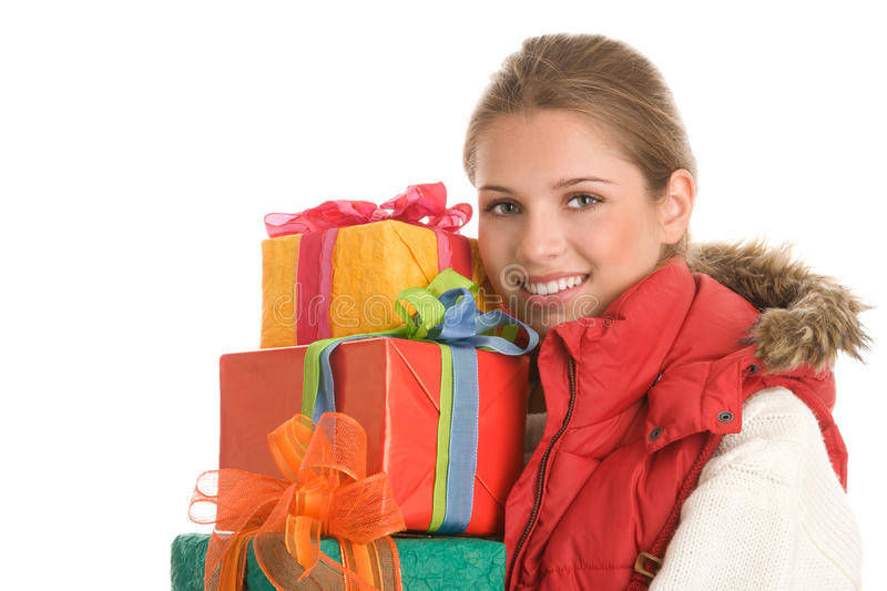 Download Woman with gifts stock image. Image of adults, friendly - 16794447